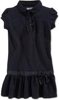 Nautica Girls' Uniform Ruffled Polo Dress