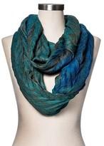 Merona Fashion Scarves Jacquard Green Turquoise