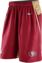 Nike Men's San Francisco 49ers Fly XL Dri-FIT Shorts