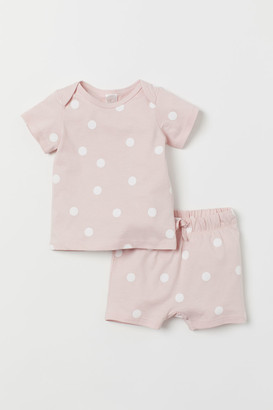 H&M 2-piece Cotton Set - Pink