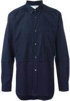 Comme des Garcons panelled button down shirt - men - Cotton - M
