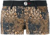 Philipp Plein leopard print shorts - women - Cotton/Spandex/Elastane - 26