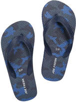 Joe Fresh Kid Boys' Flip Flops, Navy (Size M)