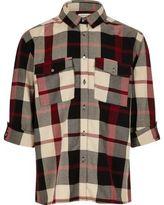 River Island Girls red check shirt