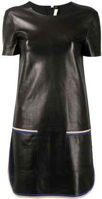 Céline Pre-Owned Pre-Owned Leather Mini Dress