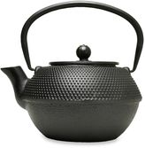 Primula 38 oz. Hammered Cast Iron Teapot with Infuser in Black