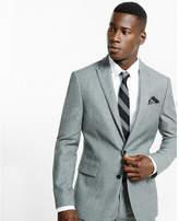 Express slim photographer wool blend suit jacket