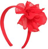 Il Gufo Wool Gauze Headband W/ Flower
