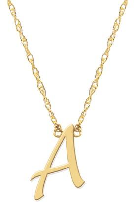 Jane Basch Designs Script Initial Pendant Necklace