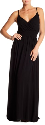 WEST KEI Solid Sleeveless Gauze Maxi Dress