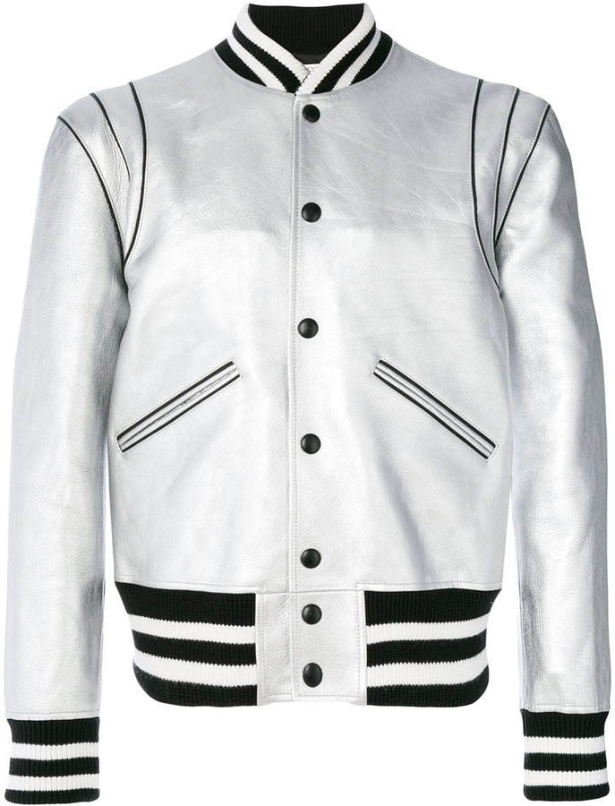Givenchy striped trim bomber jacket