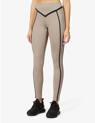 Ernest Leoty Corset contrast-piping high-rise stretch-woven leggings