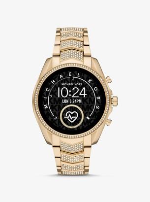 Michael Kors Gen 5 Bradshaw Pave Gold-Tone Smartwatch