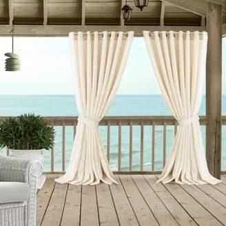 """Carmen Sheer Indoor/Outdoor Tieback Curtain Panel, 114"""" x 108"""""""