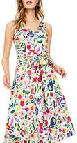 Boden Jade Fit & Flare Linen Cotton Dress