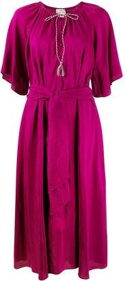 Forte Forte Tie-Waist Silk Dress