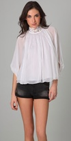 Catherine Malandrino High Neck Poncho Top