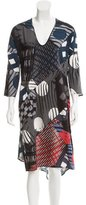 Zero Maria Cornejo Silk Patterned Dress