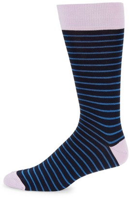 Saks Fifth Avenue COLLECTION Pinstripe Socks