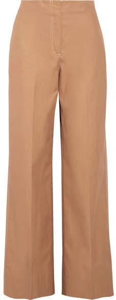 Elizabeth and James Maslin Cotton-poplin Wide-leg Pants - Sand