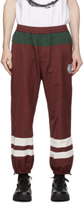 Undercover Burgundy and Green Graphic Lounge Pants