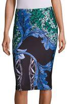 Yigal Azrouel Floral Print Scuba Skirt