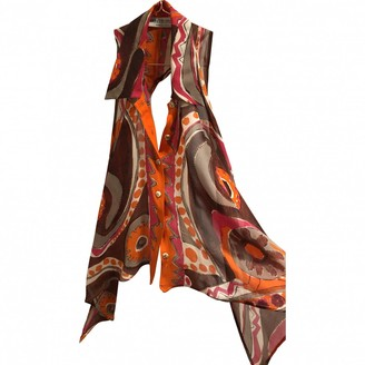 Alberta Ferretti Orange Silk Top for Women Vintage