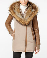 Rudsak Grace Fur-Trim Mixed-Media Puffer Coat