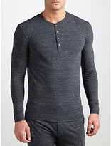 Paul Smith Long Sleeve Henley Top, Grey