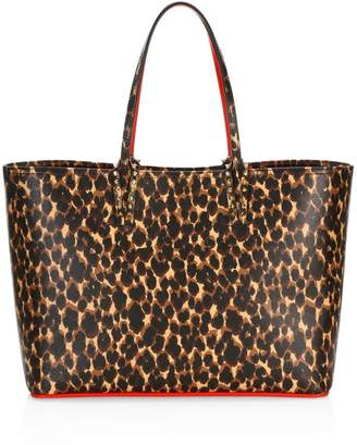 Christian Louboutin Cabata Leopard-Print Leather Tote