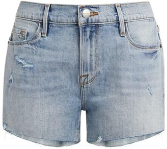 Frame Le Cut Off Raw-Edge Shorts