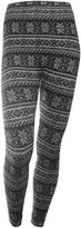 AshopZ Women Snowflakes Striped Winter Thick Leggings