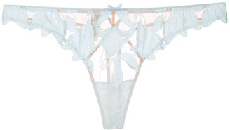 Fleur Du Mal Lily embroidery thong