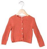 Bonpoint Girls' Rib Knit Button-Up Cardigan