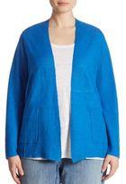 Eileen Fisher, Plus Size Knit Organic Linen Cardigan