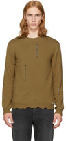 Alexander McQueen Tan Punk Crewneck Sweater
