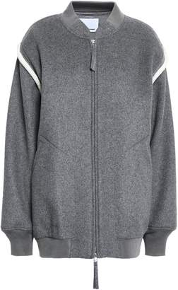 Alexander Wang Wool-blend Fleece Bomber Jacket