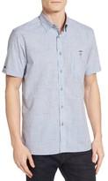 Ted Baker Men's Samgee Extra Slim Fit Slub Check Sport Shirt