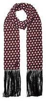 CONTEMPORARY Diamond Long Cashmere Scarf With Fringe