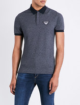 Armani Jeans Eagle-patch cotton-blend piqué polo shirt