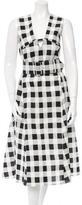 Derek Lam Check Patterned Midi Dress w/ Tags