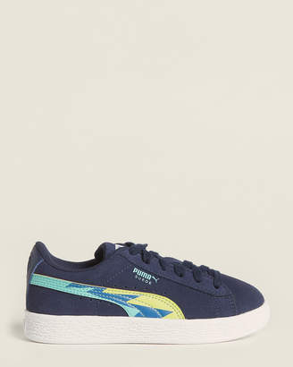 Puma Kids Boys) Peacoat Blue Classic Lightning Suede Low-Top Sneakers