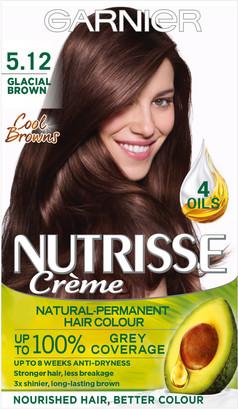 Garnier Nutrisse Cream Nourishing Permanent Hair Colour 5.12 Glacial Brown