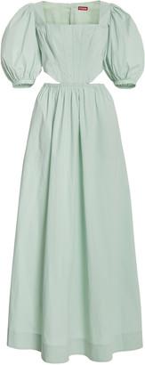 STAUD Astro Puff-Sleeve Cutout Maxi Dress