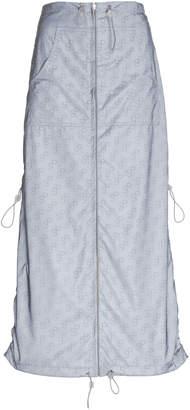 Saks Potts Monogrammed Reflective Shell Midi Skirt
