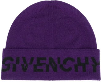 Givenchy Logo Print Beanie