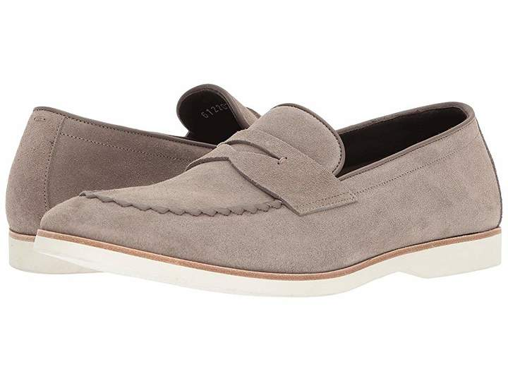 Canali Suede Penny Loafer Men's Slip on Shoes