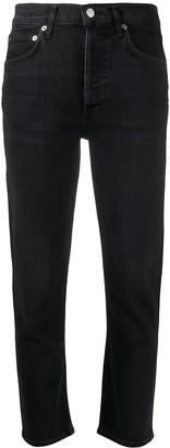 A Gold E Agolde Riley straight-leg jeans