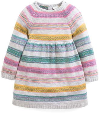 Mulberry Jojo Maman Bebe JoJo Maman Bebe Girls' Casual Dresses MULLBERRY Fair Isle Stripe A-Line Dress - Infant & Toddler