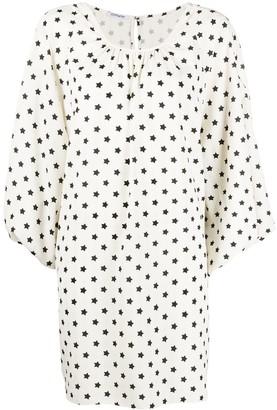 Parlor Star-Print Asymmetric Dress